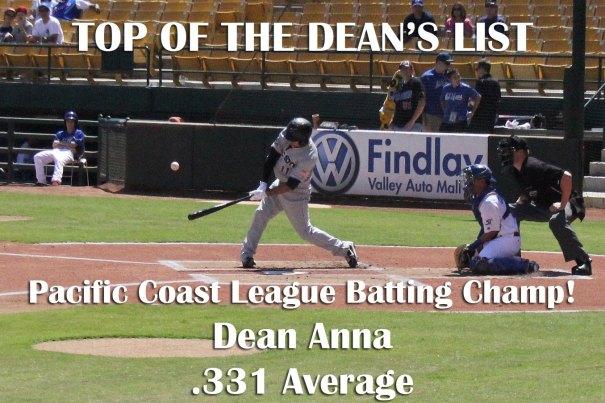 PCL Batting Title - Dean  Anna