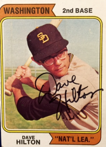 Dave Hilton, Padres/Washington