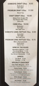 Club 19 - Menu - Beverages