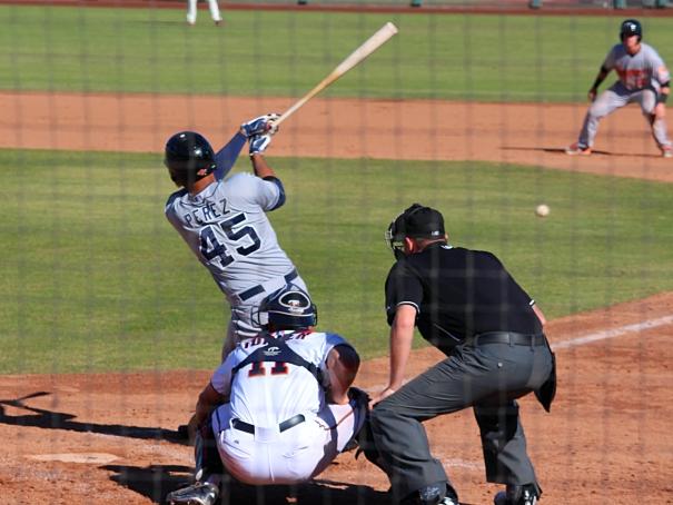Fernando Perez, Padres Infielder, Arizona Fall League. Photo by Rebecca Herman, Padres360