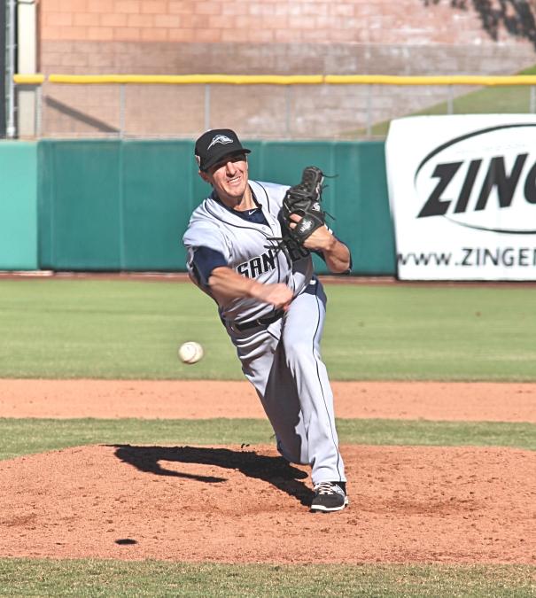 Padres Pitcher, Eric Yardley at Arizona Fall League. Photo by Rebecca Herman, Padres360
