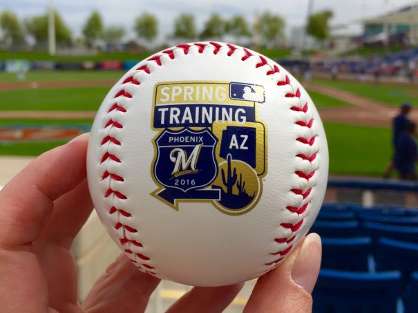 Brewers 2016 Spring Training Ball