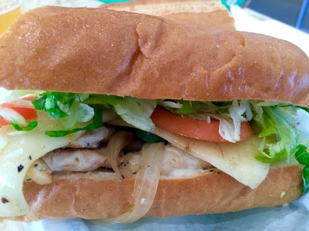 Board & Brew Baja Chicken Sandwich